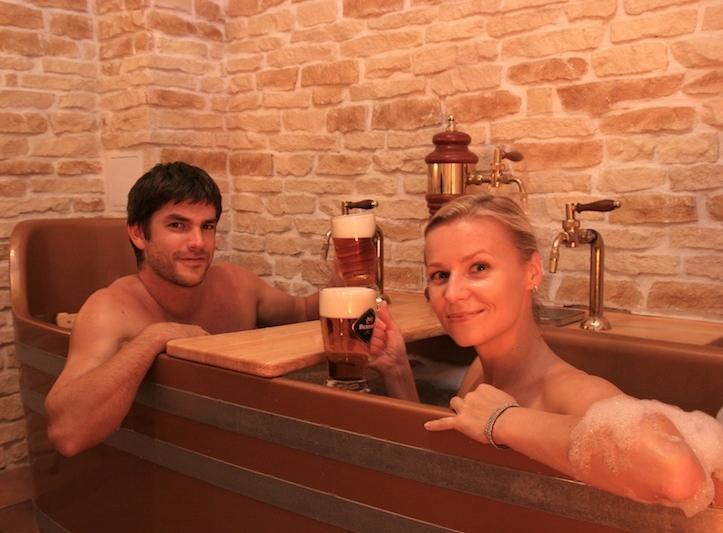 Pivní koupel Bernard pro dva