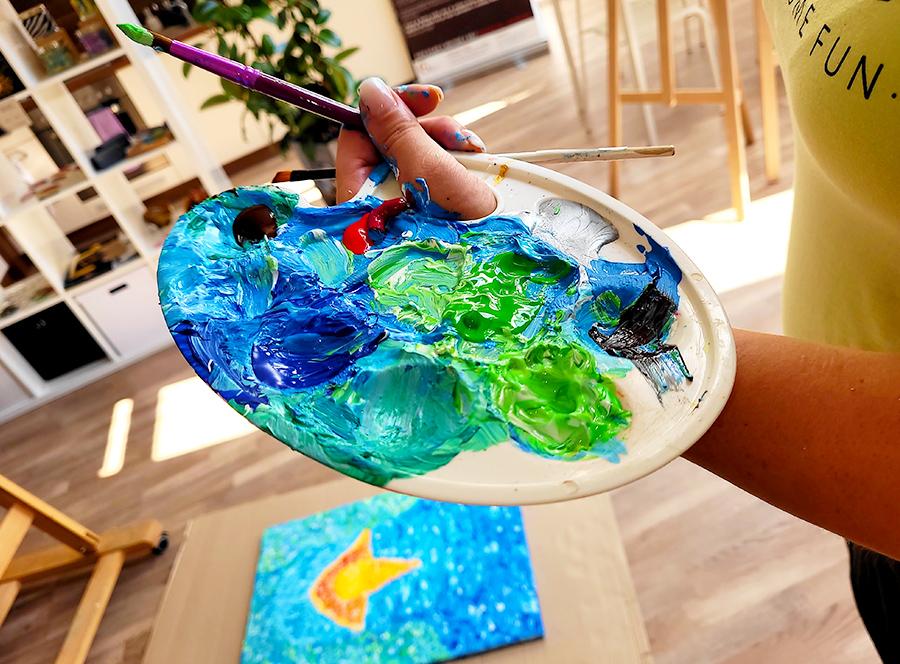 Arteterapie s kreativním workshopem