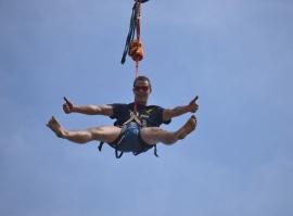 Bungee Extrém, seskoky z jeřábu z 60 metrů