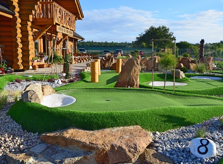 S rodinou na adventure golf