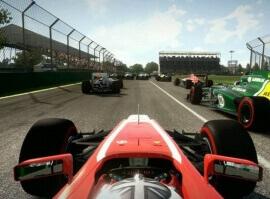 Jízda v závodním simulátoru